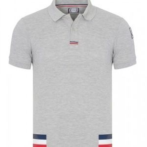 MONCLER GREY WITH DETAIL MEN POLO SHIRT